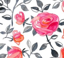 Roses on White - a watercolor floral pattern Sticker