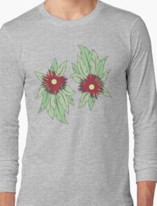 growing flowers on concrete Long Sleeve T-Shirt