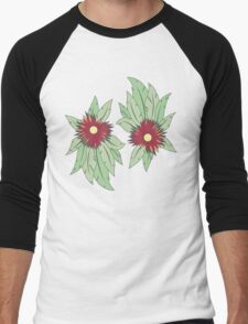 growing flowers on concrete Men's Baseball ¾ T-Shirt