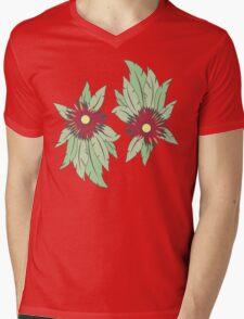 growing flowers on concrete Mens V-Neck T-Shirt