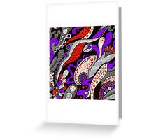 Psychedelic Boho  Greeting Card