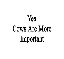 Yes Cows Are More Important  by supernova23