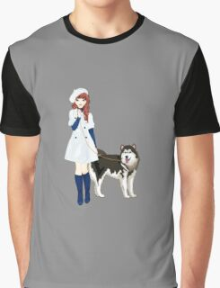 Girl with a dog Graphic T-Shirt