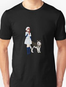 Girl with a dog Unisex T-Shirt