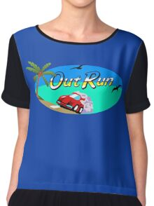 OUT RUN SEGA ARCADE 80s Chiffon Top