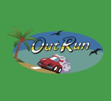 OUT RUN SEGA ARCADE 80s One Piece - Short Sleeve