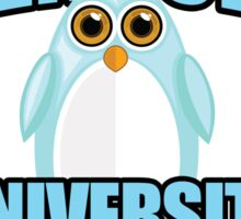Penguin University - Blue Sticker