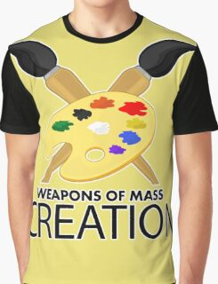Weapons of mass creation - Yellow Graphic T-Shirt