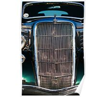 Vintage Ford customized coupe front grill Poster