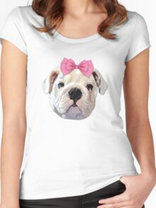 Cute Bulldog Women's Fitted Scoop T-Shirt
