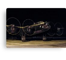 """Lancaster B.VII NX611 G-ASXX  """"Just Jane"""" out of darkness Canvas Print"""