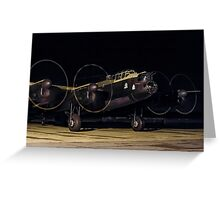 "Lancaster B.VII NX611 G-ASXX  ""Just Jane"" out of darkness Greeting Card"