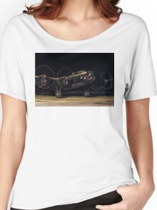"""Lancaster B.VII NX611 G-ASXX  """"Just Jane"""" out of darkness Women's Relaxed Fit T-Shirt"""