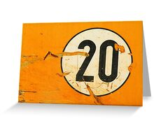 20 Greeting Card