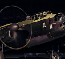 "Lancaster B.VII NX611 G-ASXX  ""Just Jane"" out of darkness Sticker"