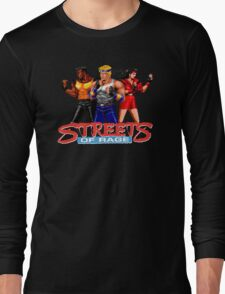 STREETS OF RAGE - AXEL-BLAZE-ADAM  Long Sleeve T-Shirt