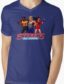 STREETS OF RAGE -AXEL-BLAZE-ADAM Mens V-Neck T-Shirt