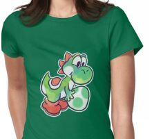 Yoshi holding an Egg Womens Fitted T-Shirt