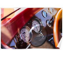 Vintage customized car dashboard Poster