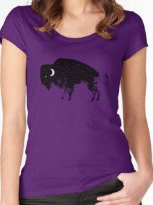 Bison Moon Women's Fitted Scoop T-Shirt