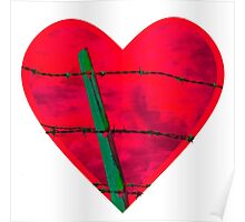 """""""Guarded"""" heart image products Poster"""