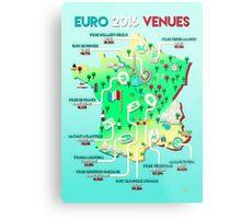 Euro 2016 venues Metal Print