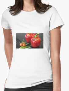 Stuffed peppers Womens Fitted T-Shirt