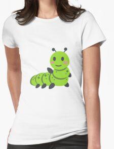 Caterpillar/Bug Waving Emoji Womens Fitted T-Shirt