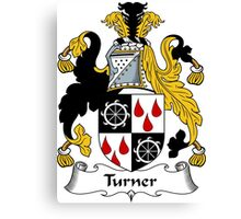 Turner Coat of Arms / Turner Family Crest Canvas Print