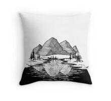Enjoy the Mountains Throw Pillow