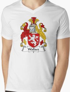 Wallace Coat of Arms / Wallace Family Crest Mens V-Neck T-Shirt