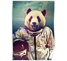 Astronaut panda Poster