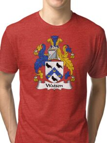 Watson Coat of Arms / Watson Family Crest Tri-blend T-Shirt