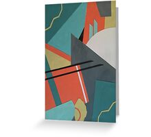 Geometric Peaks Greeting Card