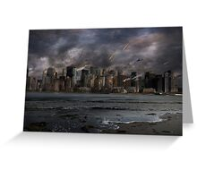 Destruction in the city Greeting Card