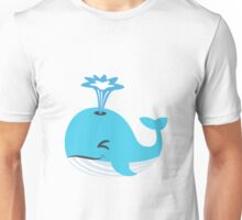 Whale Emoji (Blowhole) Unisex T-Shirt