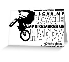 I Love My Bicycle (Black) Greeting Card