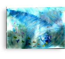 funky freaky fish Canvas Print