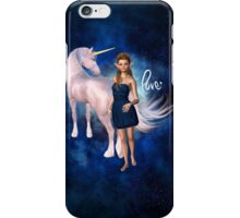 Unicorn Elf Willow Rain Love iPhone Case/Skin