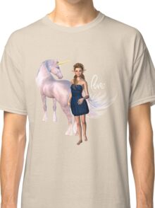 Unicorn Elf Willow Rain Love Classic T-Shirt