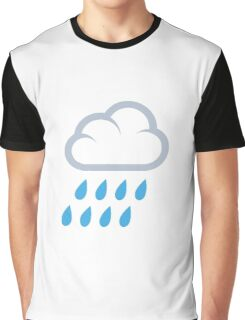 Rain Emoji Graphic T-Shirt