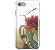 Beach cruiser with peonies #2 iPhone Case/Skin
