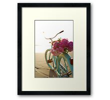 Beach cruiser with peonies #2 Framed Print