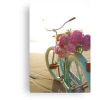 Beach cruiser with peonies #2 Metal Print
