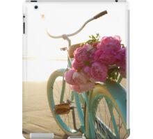 Beach cruiser with peonies #2 iPad Case/Skin