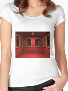 3D room  Women's Fitted Scoop T-Shirt