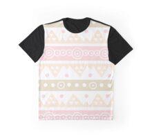Pink Peach Beige Hand Drawn Graphic T-Shirt