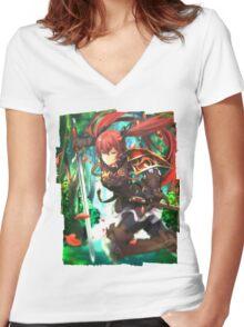 Fire Emblem Fates - Luna / Selena Women's Fitted V-Neck T-Shirt