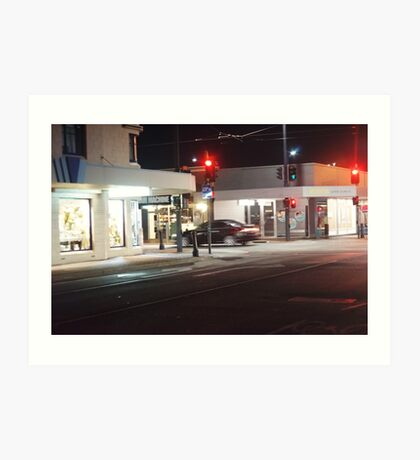 Night Scene Three - Intersection Art Print