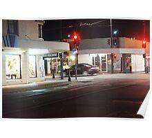 Night Scene Three - Intersection Poster